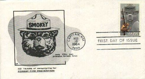 Smokey Bear - 40 Years of Campaigning First Day Cover